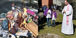 Harry Potter quema de libros