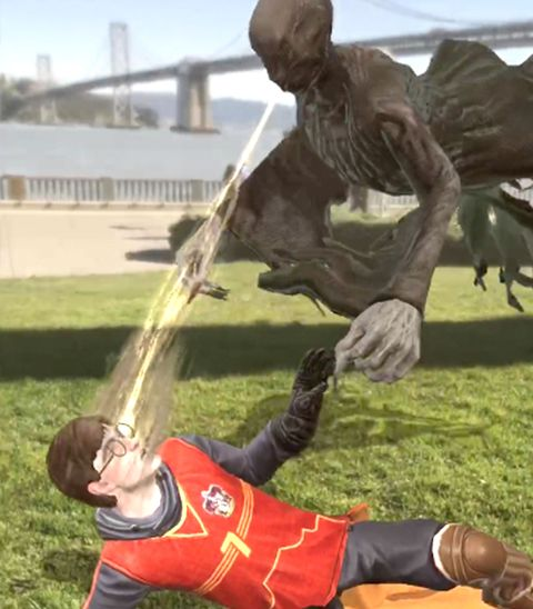 Harry Potter attacked by dementor, Harry Potter Wizards Unite game