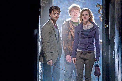 Daniel Radcliffe, Emma Watson y Rupert Grint en 'Harry Potter y las Reliquias de la Muerte - Parte I'