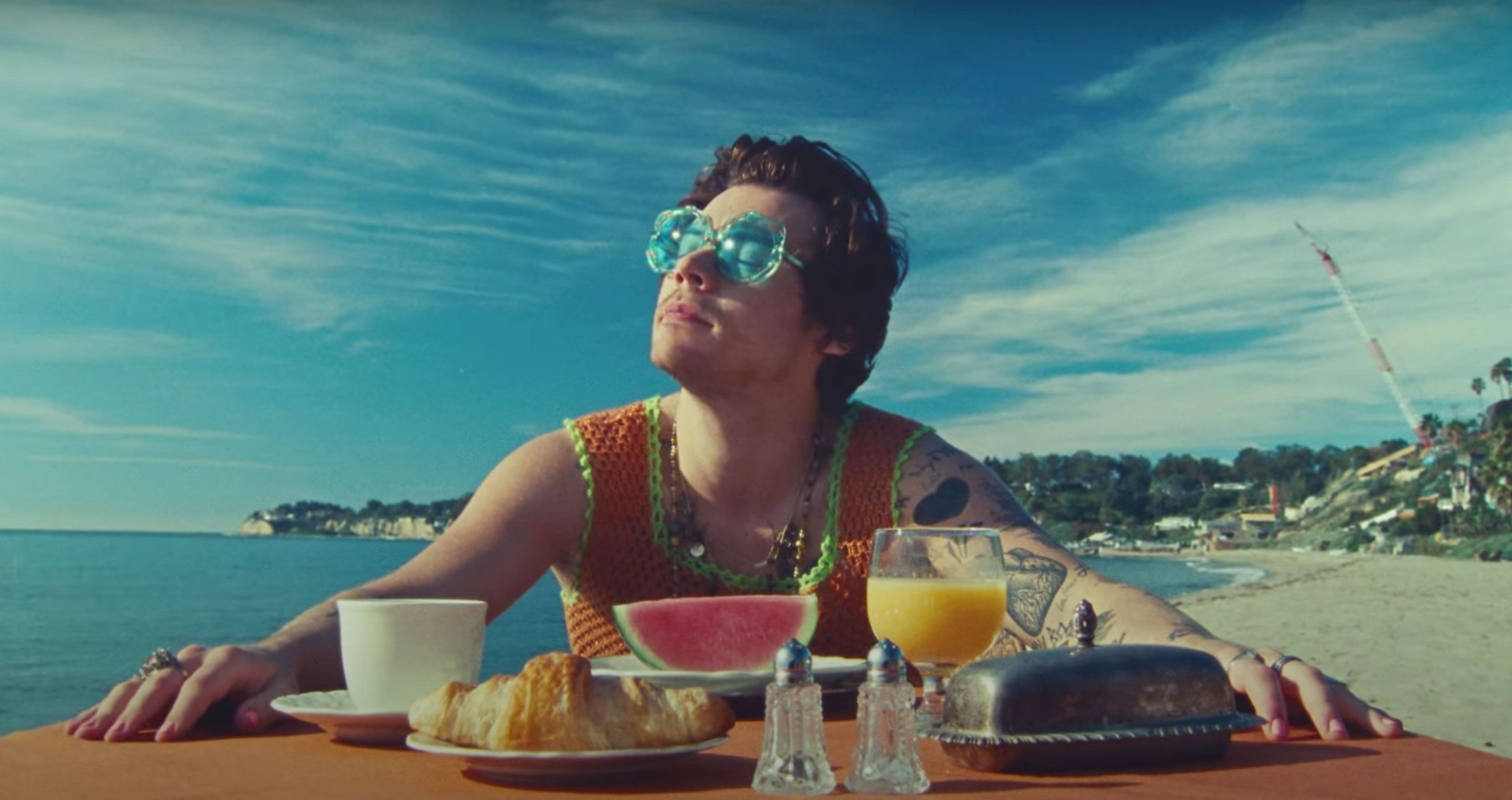 Harry Styles Watermelon Sugar Music Video Fashion And Outfits