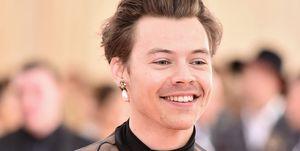 Harry Styles tijdens het MET Gala 2019