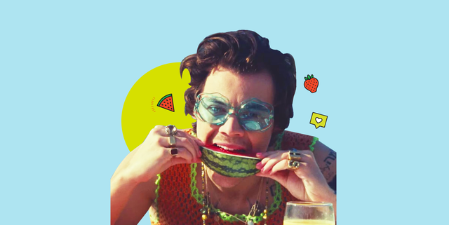 a picture of harry styles in the watermelon sugar video