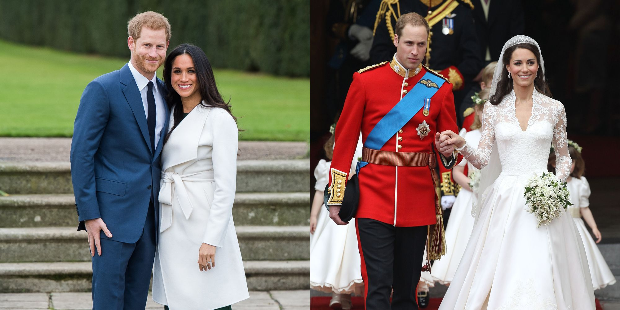 Prince Harry and Meghan Markle\'s Wedding Compared to Prince William ...
