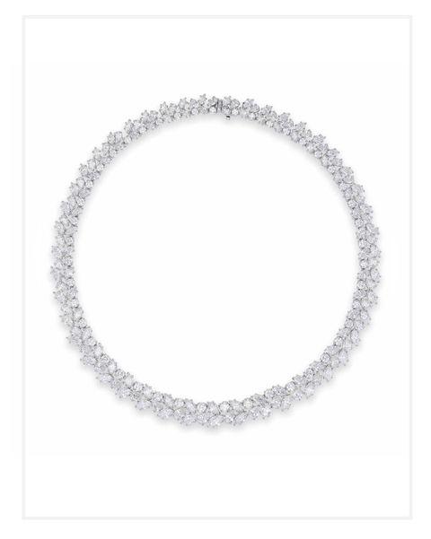 Harry Winston Diamond Wreath Necklace