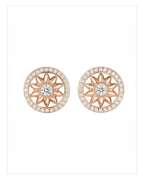 Harry Winston diamond rosette earrings