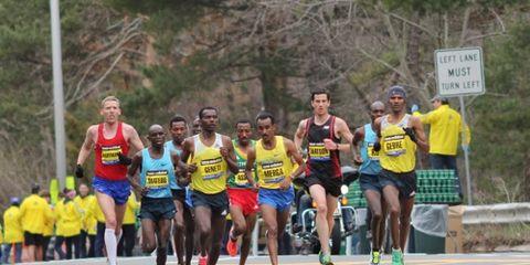 Men's Lead Pack at 2013 Boston Marathon
