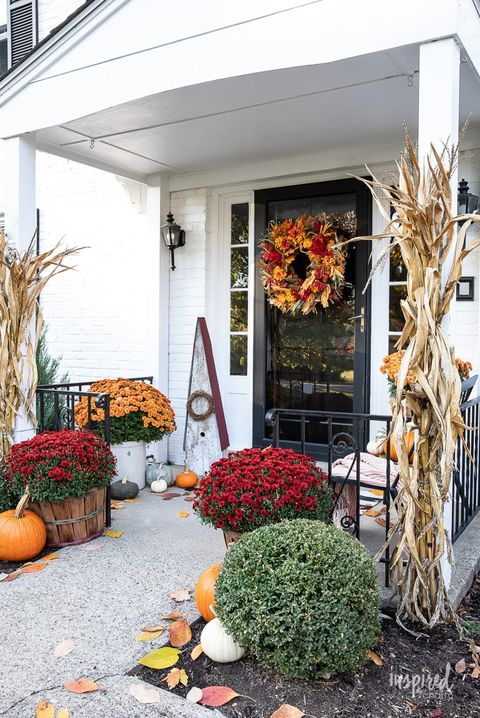 harvest fall door decorations