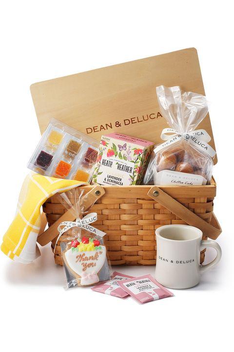 Hamper, Present, Food, Basket, Gift basket, Snack, Home accessories, Breakfast, Cuisine,