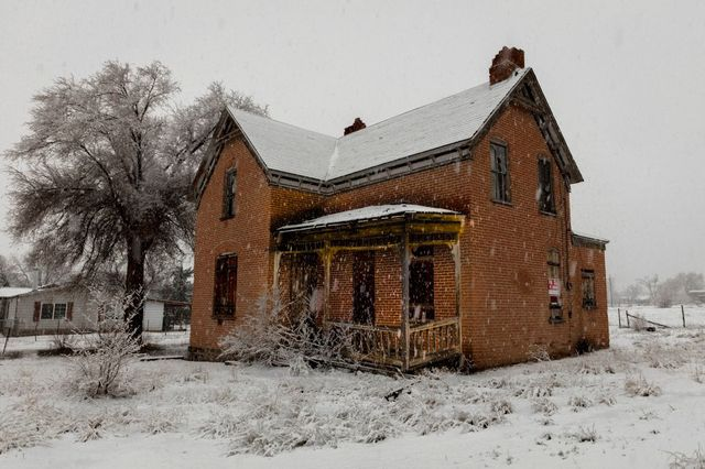 haunted deserted house in old west, colorado