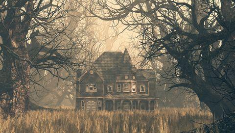 oud huis in spookbos