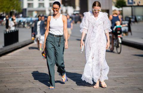 White, Street fashion, Photograph, Fashion, People, Snapshot, Yellow, Street, Walking, Jeans,