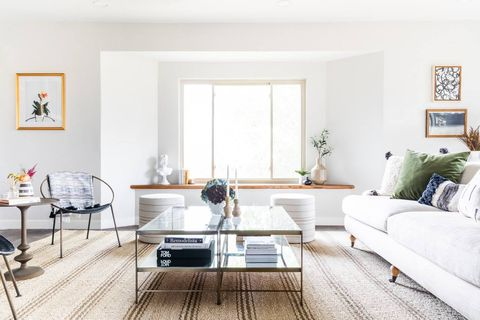 Living room, Room, Furniture, White, Interior design, Property, Floor, Coffee table, Table, Couch,