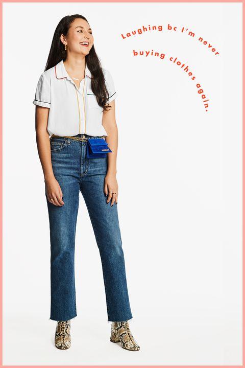 Bekleidung, Jeans, Denim, Taille, Stehend, Textil, Schulter, Oberbekleidung, Tasche, Hose,