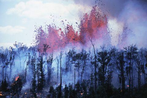 Hawaii Volcano Eruption 1983
