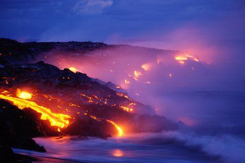 Hawaii volcano eruption 2004
