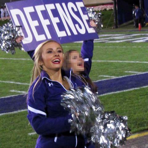 hayden richardson cheering at a football game