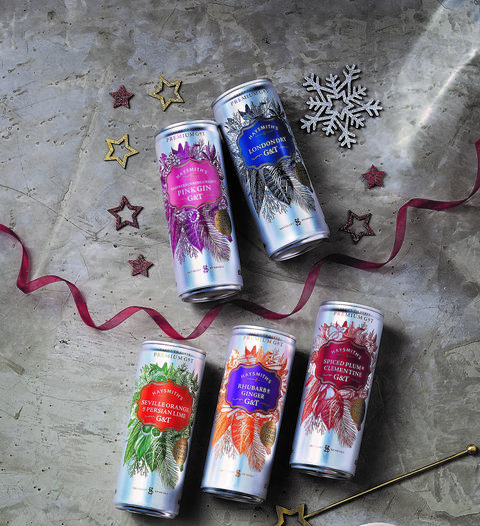 aldi christmas gin and tonic cans