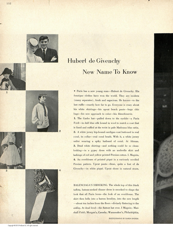 Givenchy, 1952