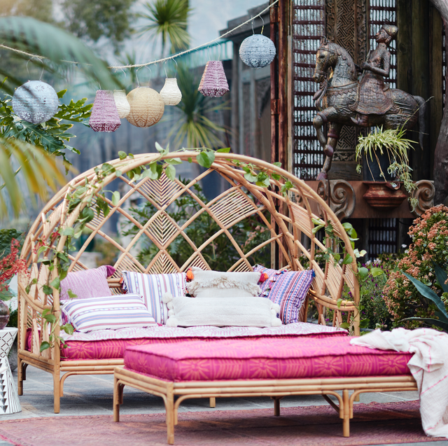 Image result for outdoor daybed rattan decor