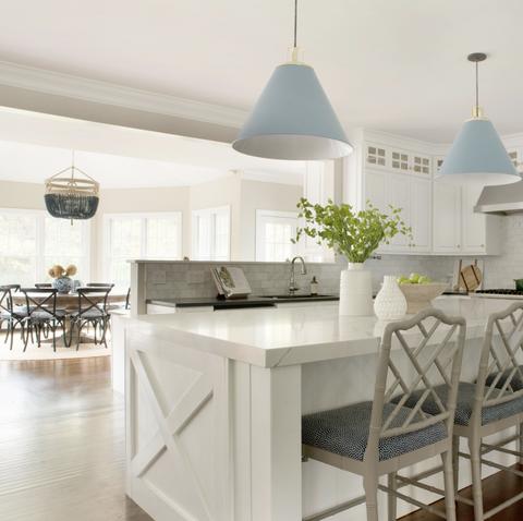 Room, Furniture, White, Property, Interior design, Dining room, Kitchen, Floor, Ceiling, Building,