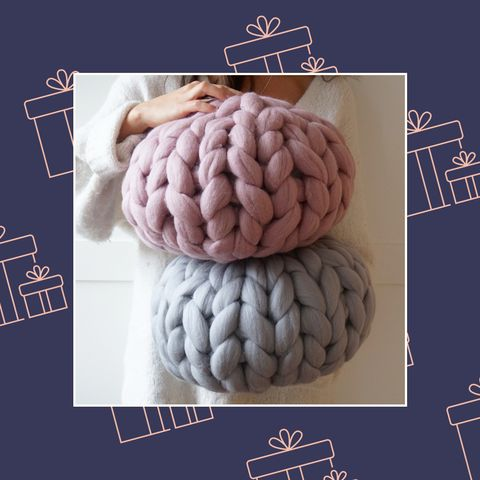 House Beautiful Christmas wish list - day 1 - chunky knit cushion