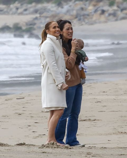 Jennifer Lopez and Joanna Gaines in Malibu, CA