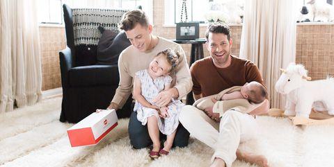 Nate Berkus and Jeremiah Brent with kids