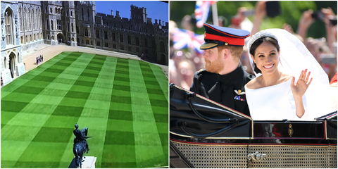 Windsor Castle Lawn During The Royal Wedding