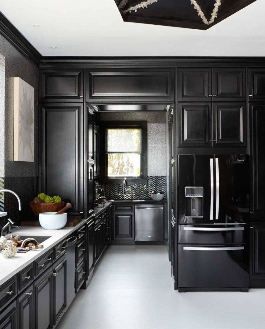 Backsplash For Black Cabinets: Black Cabinet And Backsplash Ideas