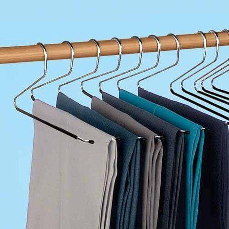 Closet organizer pants hanger