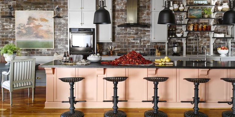 Kitchen colors soft pink