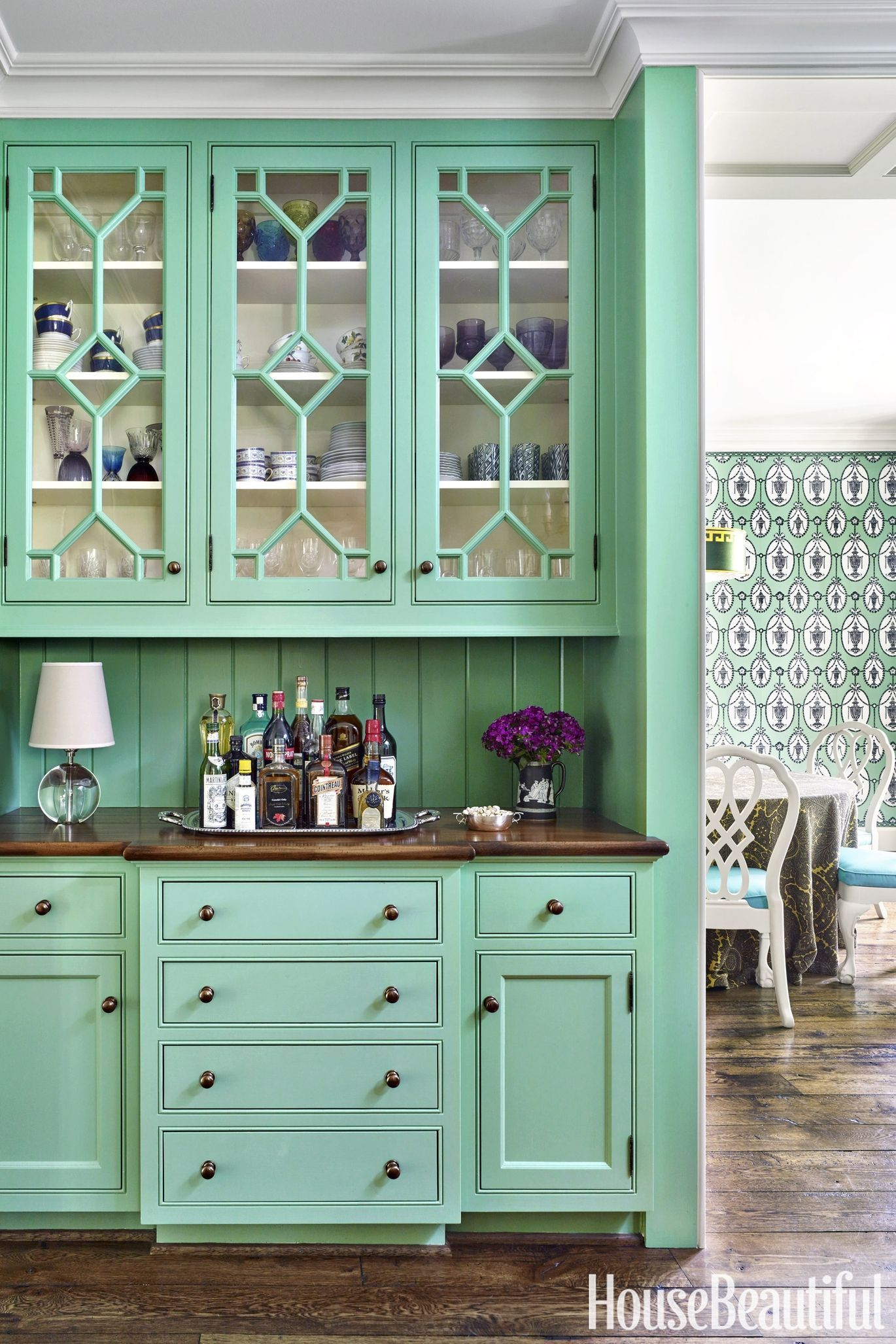 Mint green rooms