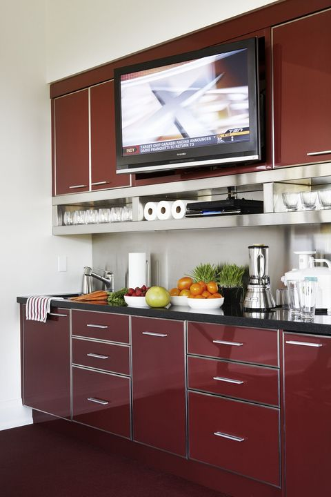 exciting red kitchen decor | 14 Red Kitchen Decor Ideas - Decorating a Red Kitchen