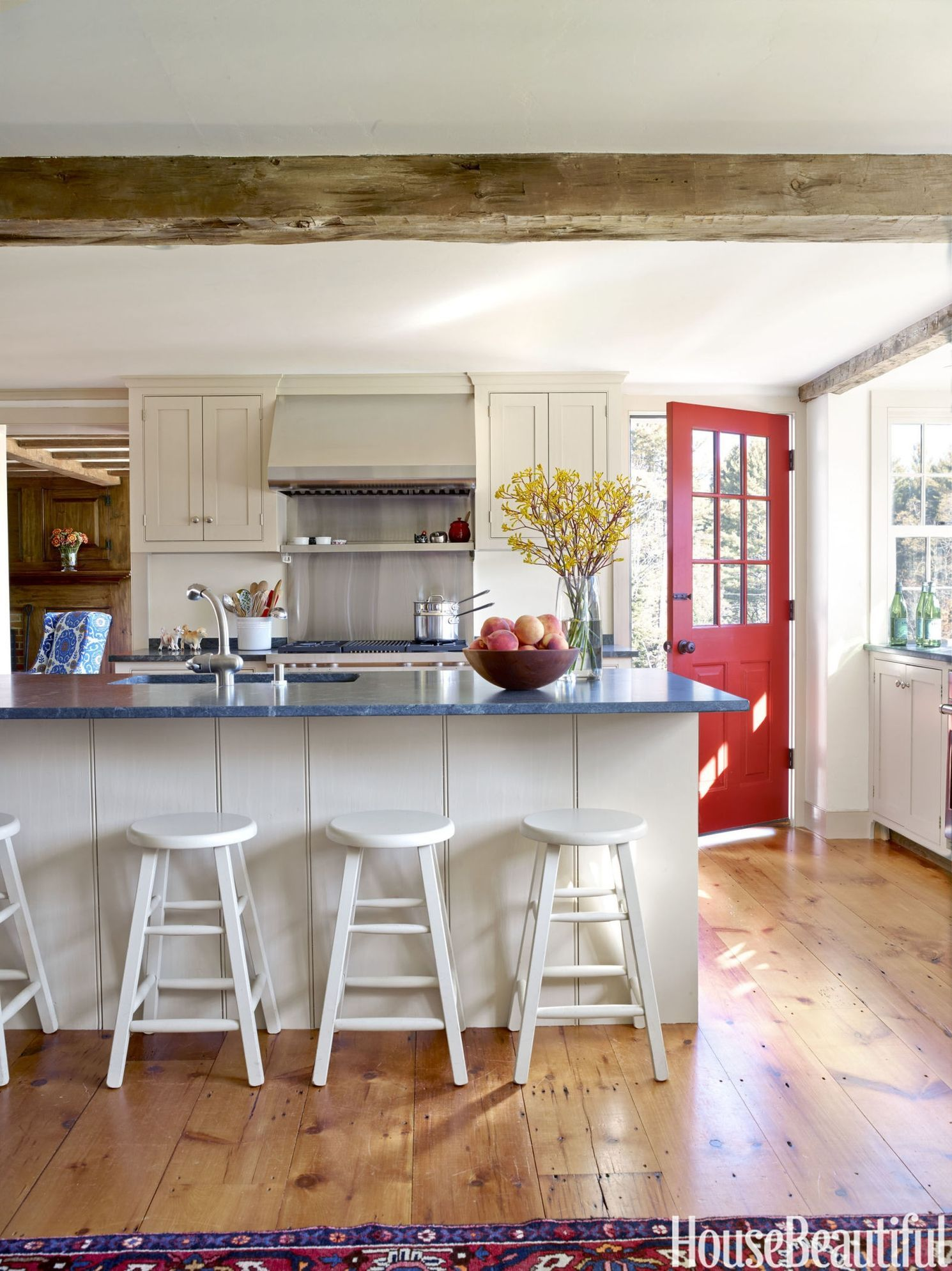Red Vermont Kitchen Door