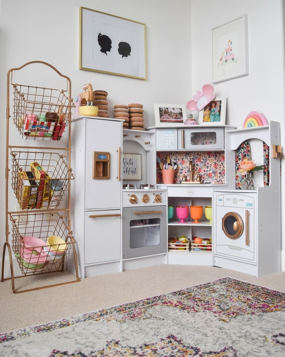 The Best Way To Get Kids To Pick Up Their Toys: Make Your Storage Part Of  Their Play Area, Like In This Idea Seen On Hello Baby Brown.