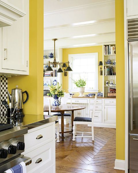 Red And Yellow Kitchen Walls: 10 Yellow Kitchens Decor Ideas