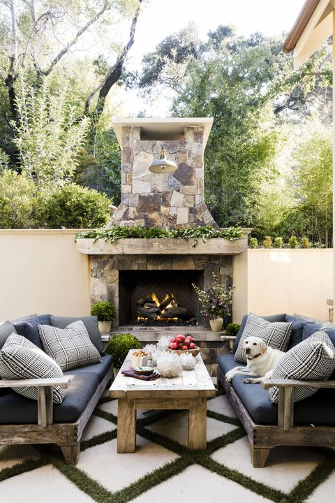 erin kunkel decorate your outdoor fireplace