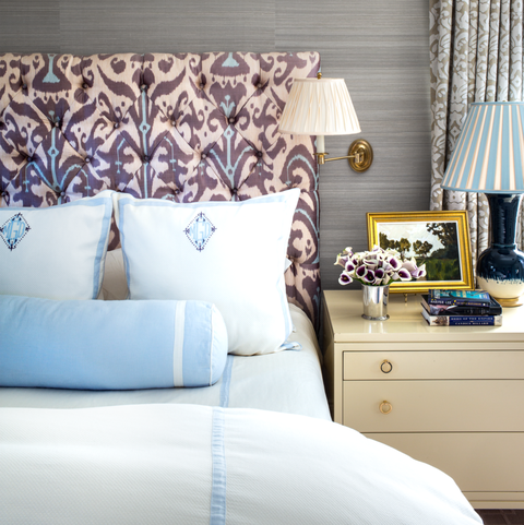 bedroom, room, furniture, bed, interior design, blue, wall, bed sheet, window covering, bedding,
