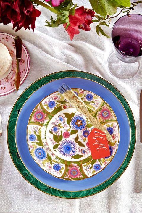 jewel toned plate