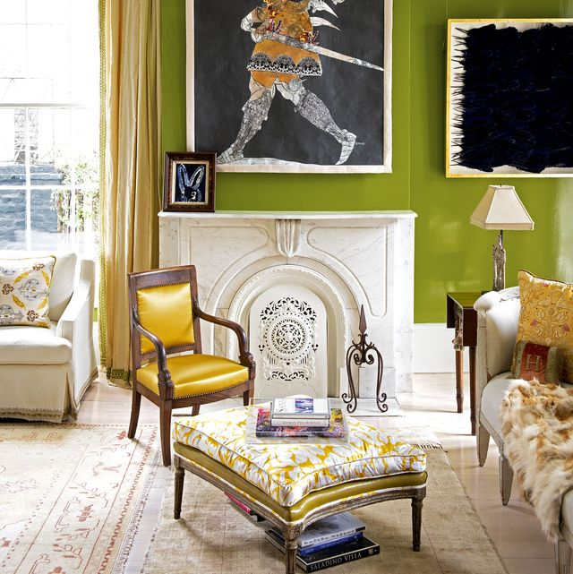 Living room, Room, Furniture, Interior design, Yellow, Property, Wall, Couch, Table, Home,