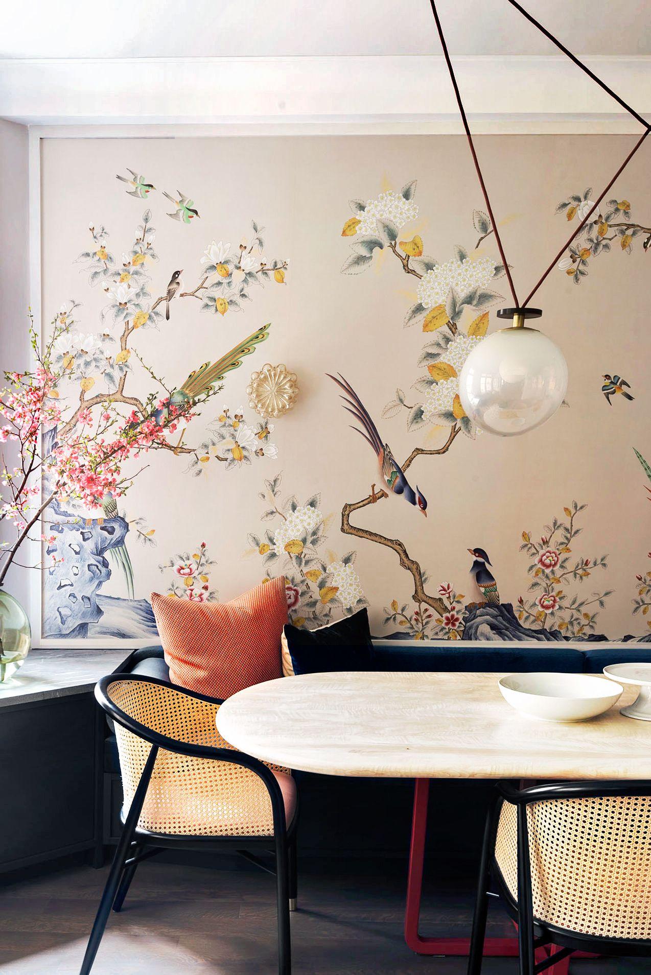 formal dining room wallpaper