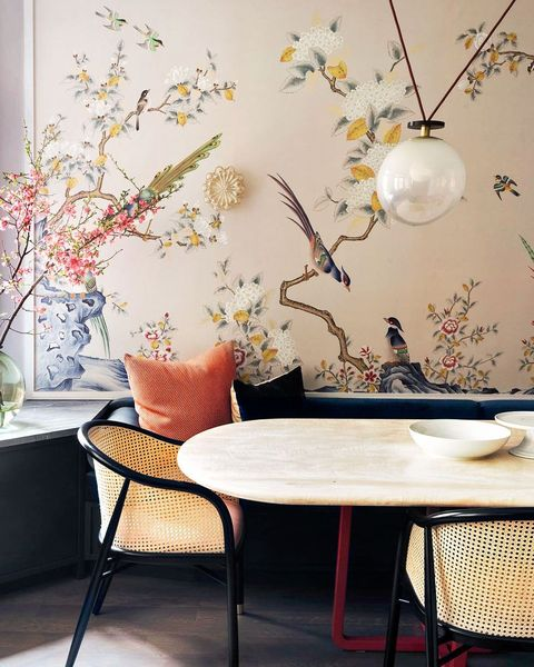 floral wallpaper interior