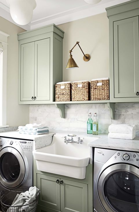 Laundry room, Room, Washing machine, Laundry, Major appliance, Property, Clothes dryer, Furniture, Sink, Interior design,
