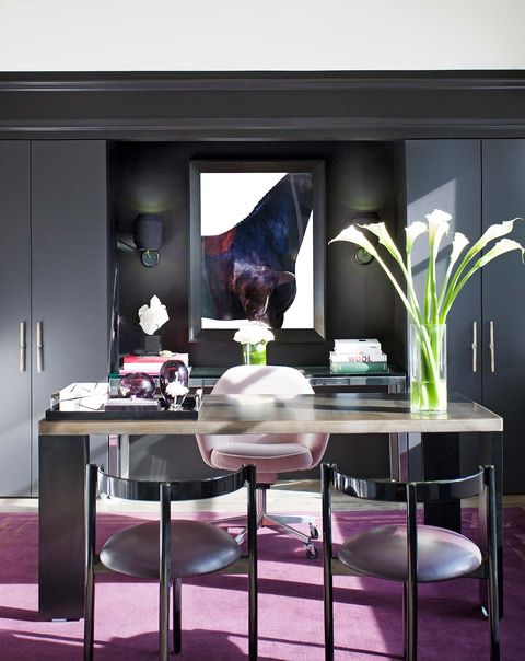 Furniture, Room, Table, Interior design, Coffee table, Purple, Violet, Dining room, Living room, Design,