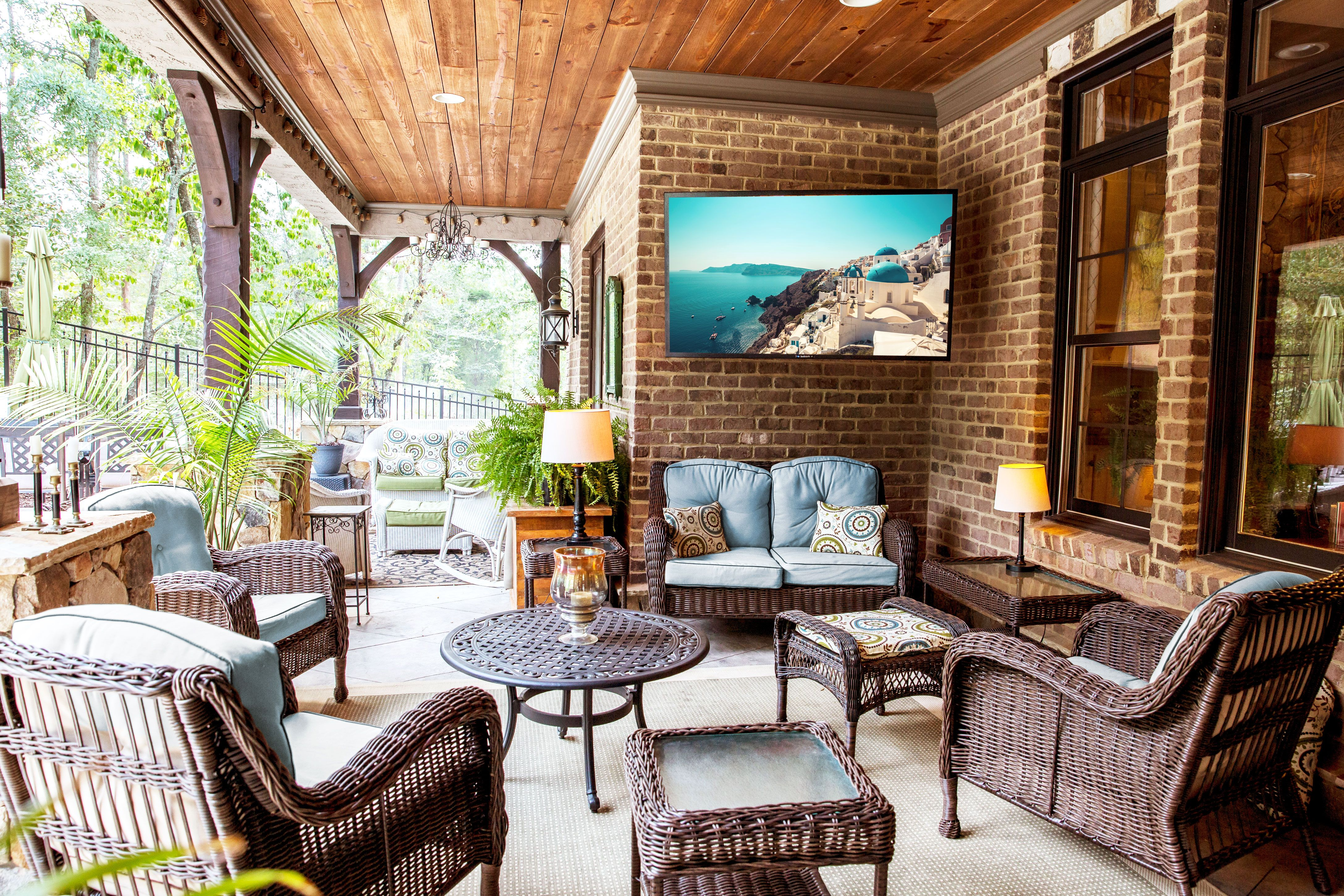 You Can Now Watch Netflix Outside With This Weatherproof, Anti-Glare Outdoor TV