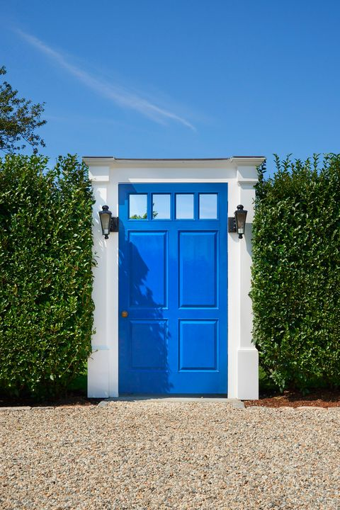 Blue, Property, Door, Azure, Wall, House, Architecture, Building, Majorelle blue, Facade,