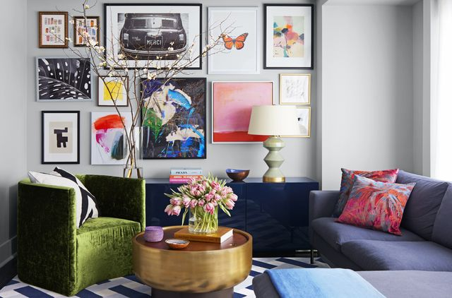 living room gallery wall by rayman boozer