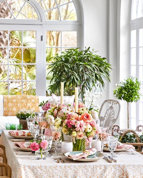 White, Green, Room, Interior design, Furniture, Pink, Table, Botany, Home, Flower,