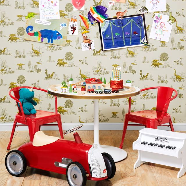 Product, Wallpaper, Room, Wall, Interior design, Vehicle, Furniture, Baby toys, Interior design, Play,