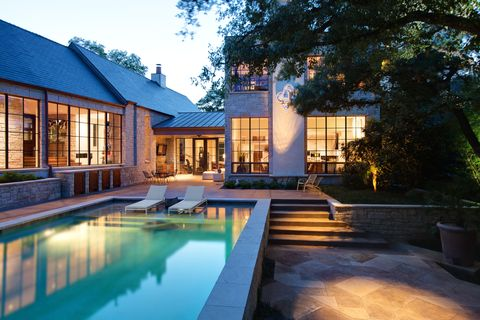 Home, Property, Building, House, Estate, Real estate, Swimming pool, Architecture, Lighting, Mansion,
